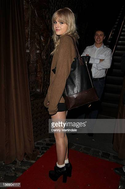 Hetti Bywater attends Sid Owen's 40th birthday party at Gilgamesh on January 12 2012 in London England