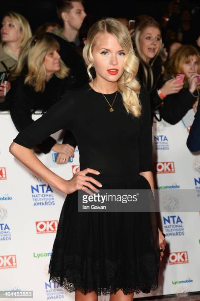Hetti Bywater attends the National Television Awards at 02 Arena on January 22 2014 in London England