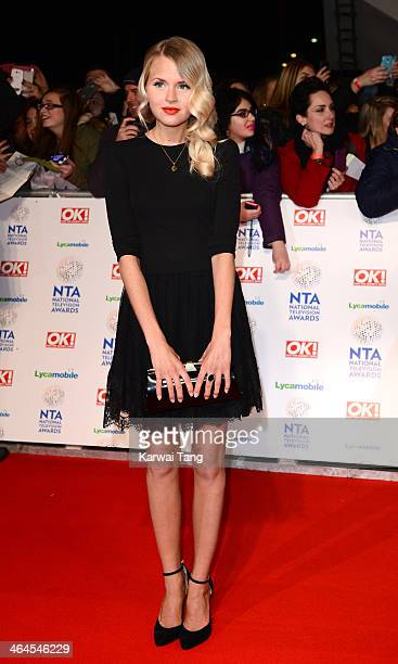 Hetti Bywater attends the National Television Awards at the 02 Arena on January 22 2014 in London England