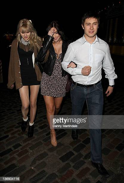 Hetti Bywater Jacqueline Jossa and Tony Discipline attends Sid Owen's 40th birthday party at Gilgamesh on January 12 2012 in London England