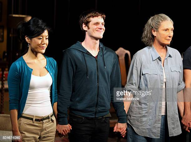 Hettienne Park Michael Esper Brenda Wehle during 'The Intelligent Homosexual's Guide' Opening Night Curtain Call in New York City