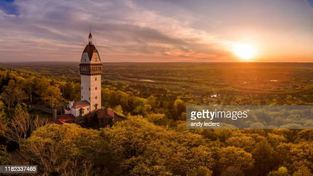 heublein tower - connecticut stock pictures, royalty-free photos & images