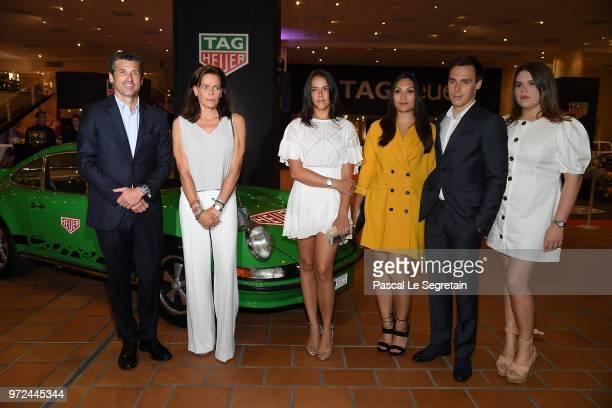 TAG Heuer Ambassador and actor Patrick Dempsey Princess Stephanie of Monaco Pauline Ducruet Marie Chevallier Louis Ducruet and Camille Gotlieb attend...
