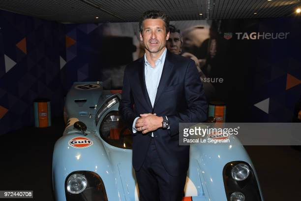 Heuer Ambassador and actor Patrick Dempsey visits the Car Collection of Prince Albert of Monaco and inaugurates the renovated map of Albert 1er...