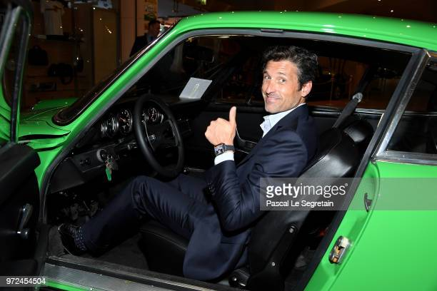 Heuer Ambassador and actor Patrick Dempsey visits the Car Collection of Prince Albert of Monaco and inaugurate the renovated map of Albert 1er,...