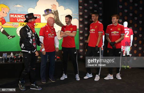 TAG Heuer Art Provocateur Alec Monopoly TAG Heuer CEO and President of LVMH Watch Division JeanClaude Biver Michael Carrick Chris Smalling and Victor...