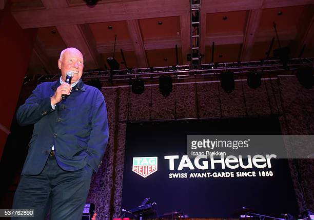 Heuer CEO JeanClaude Biver speaks onstage during the TAG Heuer Couture Opening Night Event at the Wynn Las Vegas on June 2 2016 in Las Vegas Nevada
