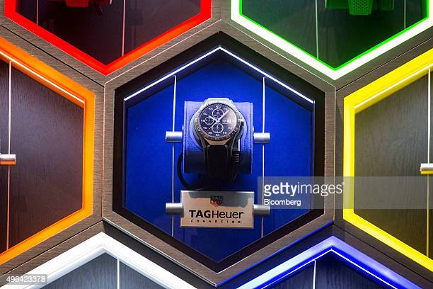 Heuer International SA Connected Watch is displayed during an unveiling event in New York US on Monday Nov 9 2015 The Connected Watch a $1500 Android...