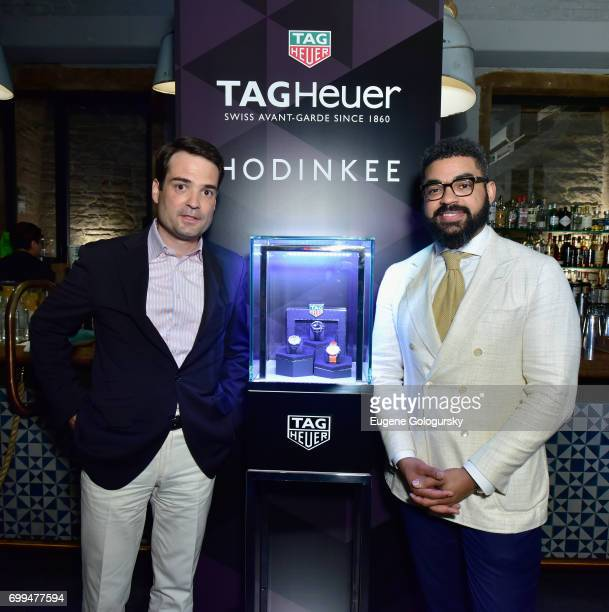 Heuer North America CEO Kilian Muller and Hodinkee COO Eneuri Acosta speak the TAG Heuer Limited Edition Skipper Watch for HODINKEE release party at...