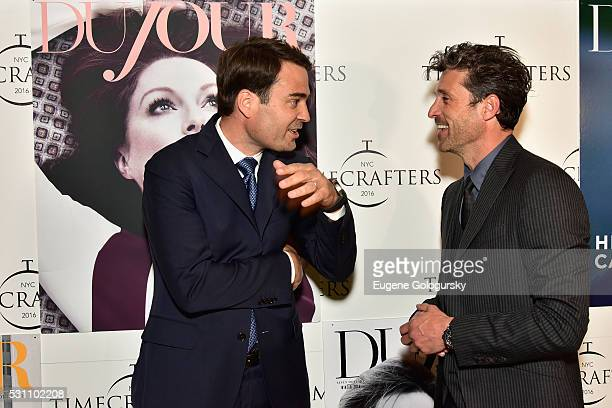 Heuer USA CEO Kilian Muller and Patrick Dempsey attend the TAG Heuer At TimeCrafters NYC 2016 on May 12 2016 in New York City