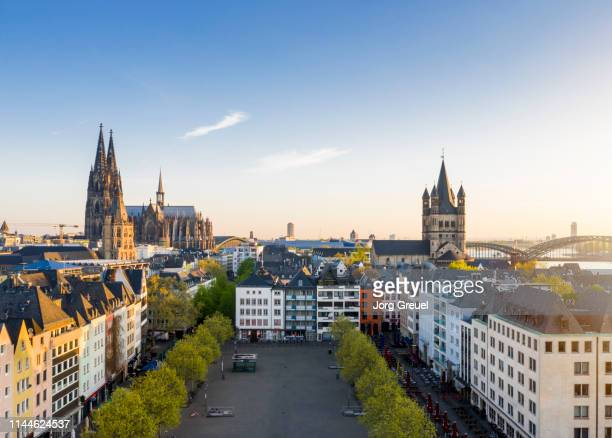 heumarkt at sunrise - cologne stock pictures, royalty-free photos & images