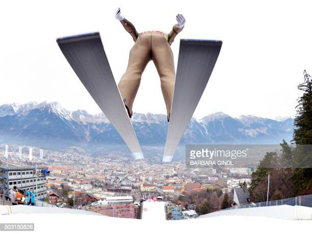 Heung-chul Choi of Republic of Korea competes during a training session of the Four Hills competition of the FIS Ski Jumping World Cup in Innsbruck...