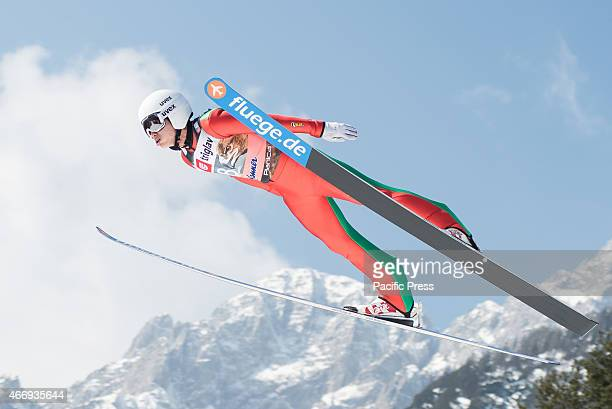 Heung-Chul Choi of South Korea competes during FIS World Cup Planica Flying Hill Individual Ski Jumping. Ski jumping is a form of nordic skiing in...