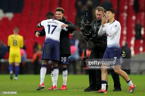 HeungMin Son of Tottenham Hotspur acknowledges the fans after the Premier League match between Tottenham Hotspur and Chelsea FC at Tottenham Hotspur...