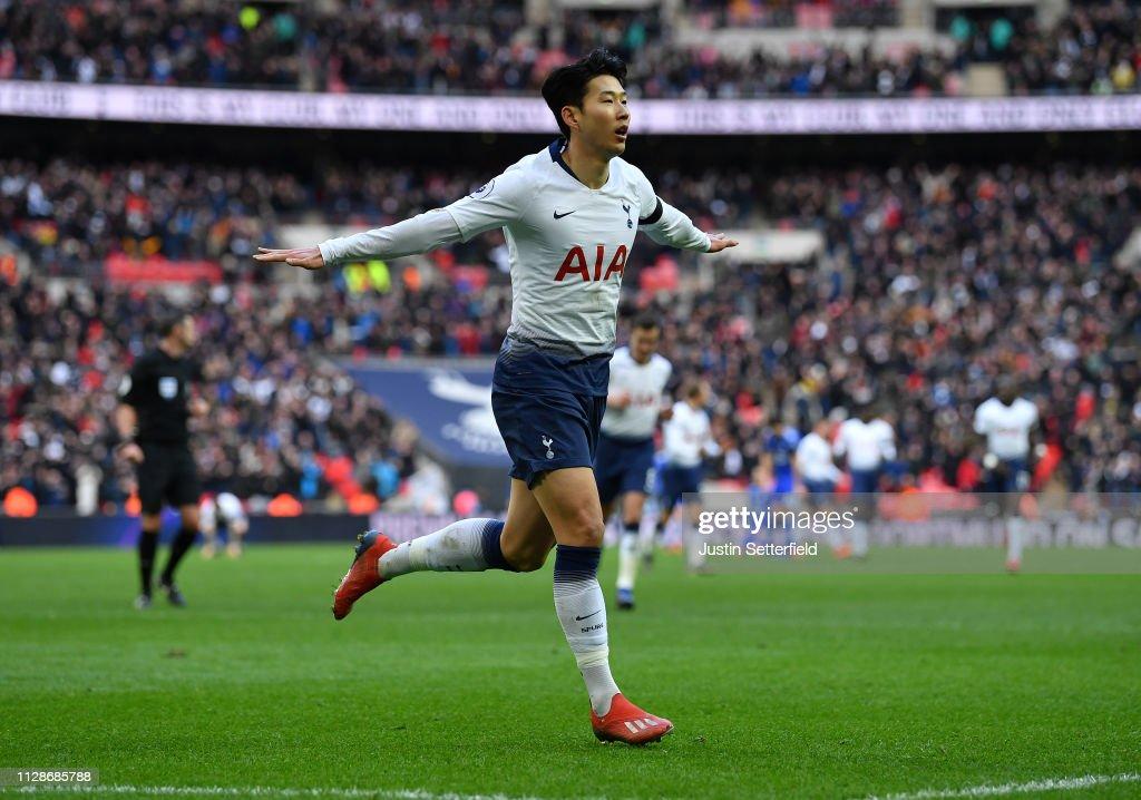 Tottenham Hotspur v Leicester City - Premier League : Fotografía de noticias