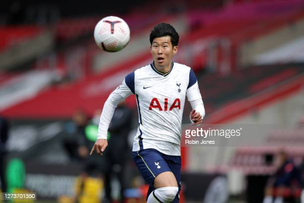 HeungMin Son of Tottenham Hotspur during the Premier League match between Southampton and Tottenham Hotspur at St Mary's Stadium on September 20 2020...