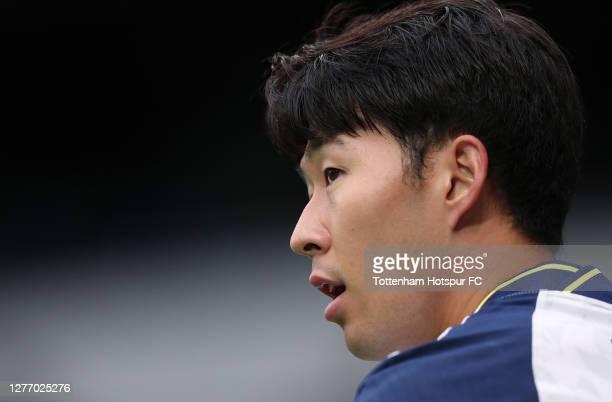 HeungMin Son of Tottenham Hotspur during the Premier League match between Tottenham Hotspur and Newcastle United at Tottenham Hotspur Stadium on...