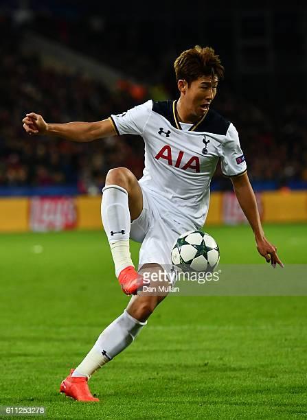 HeungMin Son of Tottenham Hotspur during the UEFA Champions League match between PFC CSKA Moskva and Tottenham Hotspur at Stadion CSKA Moskva on...