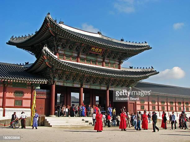 heungryemun main gate - gyeongbokgung stock photos and pictures