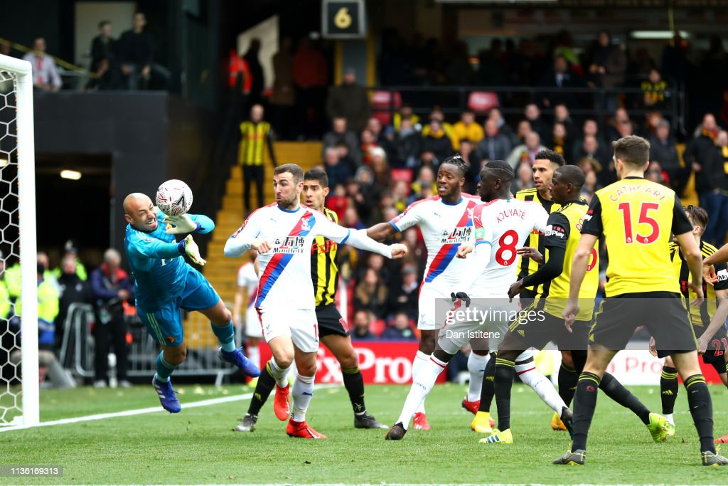 Watford v Crystal Palace - FA Cup Quarter Final : News Photo