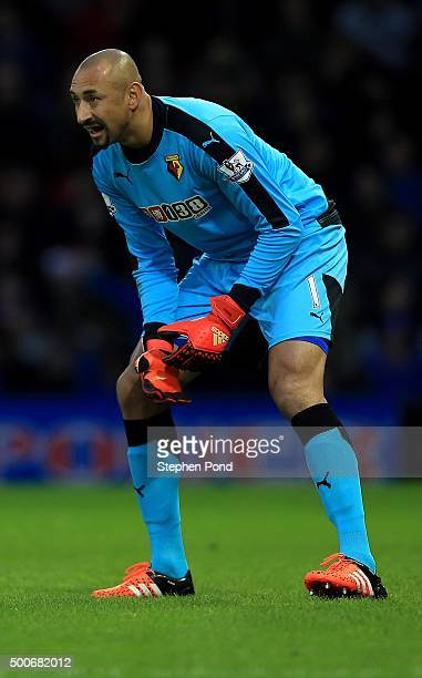 Heurelho Gomes of Watford during the Premier League match between Watford and Norwich City at Vicarage Road stadium on December 5 2015 in Watford...