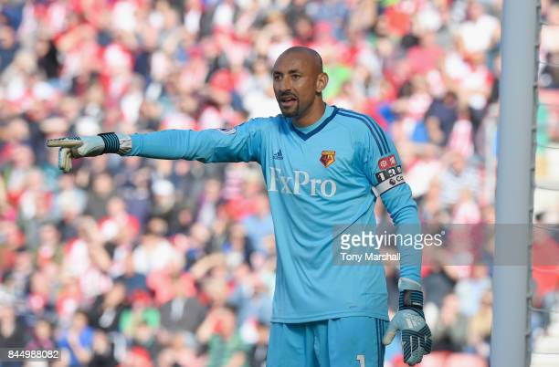 Heurelho Gomes of Watford during the Premier League match between Southampton and Watford at St Mary's Stadium on September 9 2017 in Southampton...