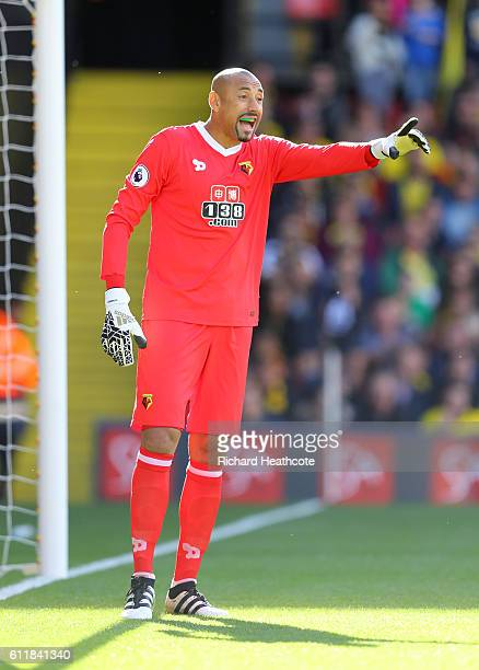 Heurelho Gomes of Watford in action during the Premier League match between Watford and AFC Bournemouth at Vicarage Road on October 1 2016 in Watford...