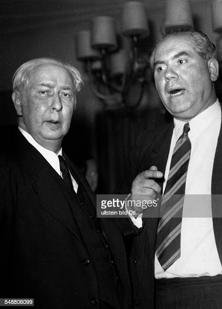 Heuss Theodor *31011884 Politician FDP Deutschland Federal President 19491959 with Franz Neumann Photographer Charlotte Willott Vintage property of...