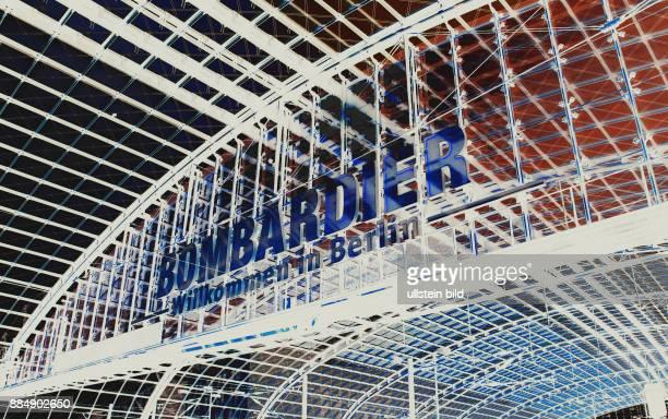 Heute grosser Aktionstag der BombardierMitarbeiter gegen geplanten Landesweiten Stellenabbau Grosse BomardierWerbung im Hauptbahnhof