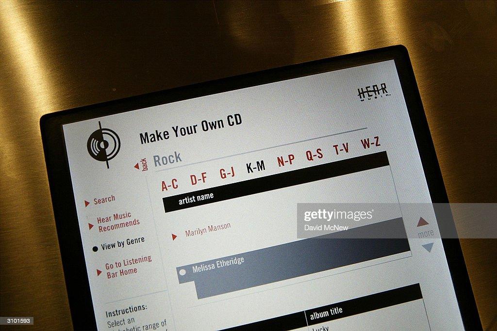 Starbucks and HP Open Custom CD's Bar : News Photo
