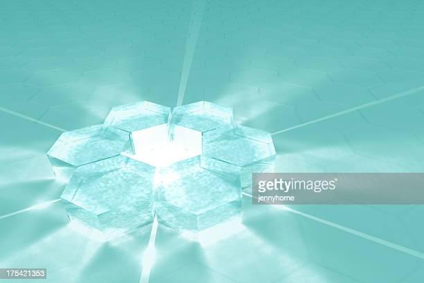 Hexagon glass plane