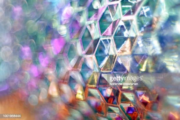 Hexagon Metal Texture Full Frame