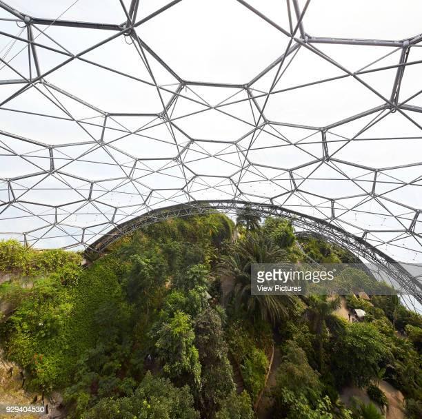 Hexagonal frames and EFTE cushions Eden Project Bodelva United Kingdom Architect Grimshaw 2016