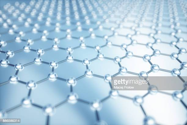 Hexagonal grid pattern of molecular structure of Graphene