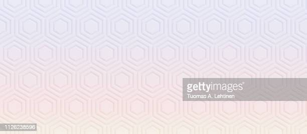 hexagonal pattern with color gradient - honeycomb stock pictures, royalty-free photos & images