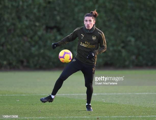 Hextor Bellerin of Arsenal during a training session at London Colney on December 7 2018 in St Albans England