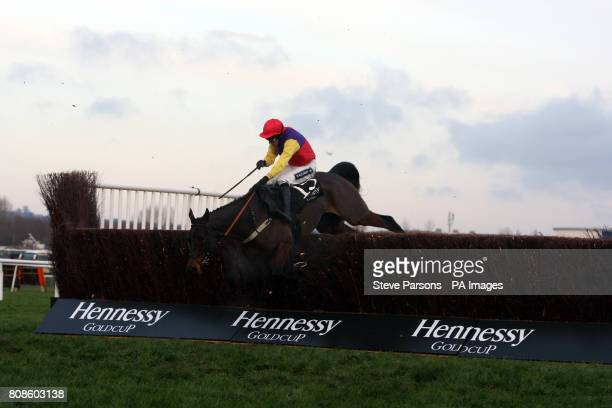 Hey Big Spender ridden by Aidan Coleman in The Hennessy Gold Cup at Newbury Racecourse Berkshire