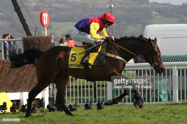 Hey Big Spender ridden by Joe Tizzard during the Ryanair Chase on St Patrick's Day during the Cheltenham Festival