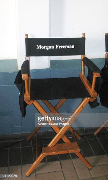 Hey, its the Hollyboks. Pictured here is Morgan Freeman's chair on the set of the new movie, The Human Factor. Freeman will be playing former South...