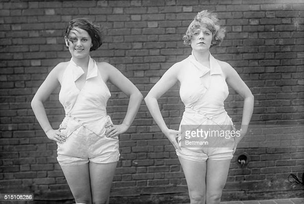 Hey King Alphonso Did You Ever See arms Like These Left to right Marjorie Whittington and Dolores Rouse of the Ziegfeld Follies declared by leading...