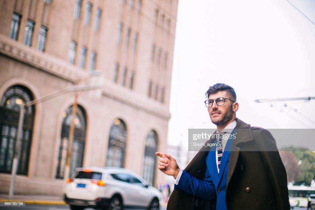 Hey taxi! : Stock Photo
