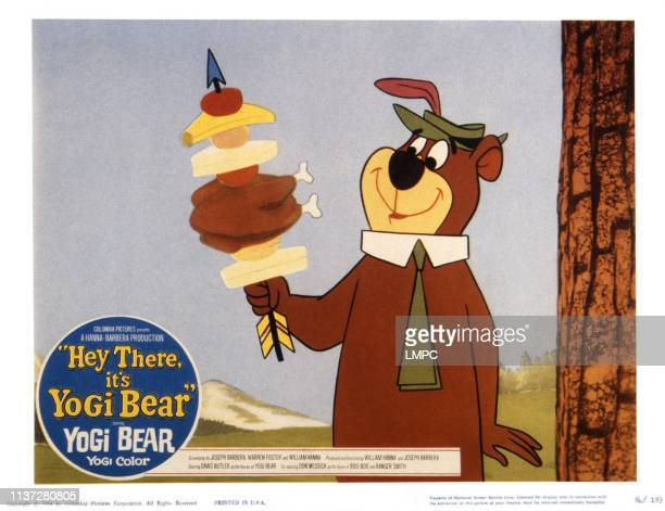 Hey There, IT'S YOGI BEAR, US lobbycard, Yogi Bear, 1964.