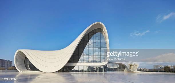 Heydar Alijev Cultural Centre Baku Azerbaijan Architect Zaha Hadid Architects 2013 Public plaza with undulated building outline