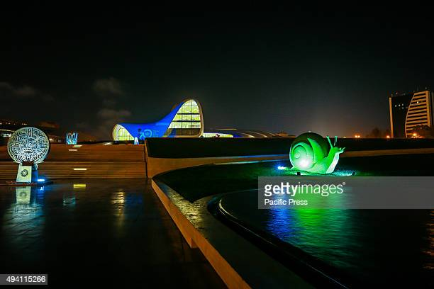 Heydar Aliyev Center turned into blue to mark 70th Anniversary of United Nations During the United Nations Day more than 150 iconic monuments...