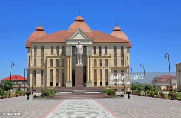 heydar aliyev cultural centre in quba, azerbaijan. - heydar aliyev stock pictures, royalty-free photos & images