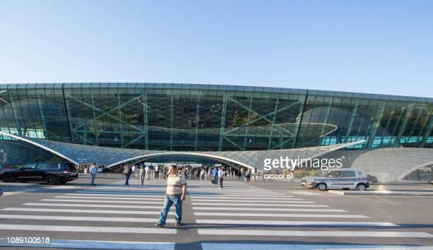 heydar aliyev international airport - heydar aliyev stock pictures, royalty-free photos & images