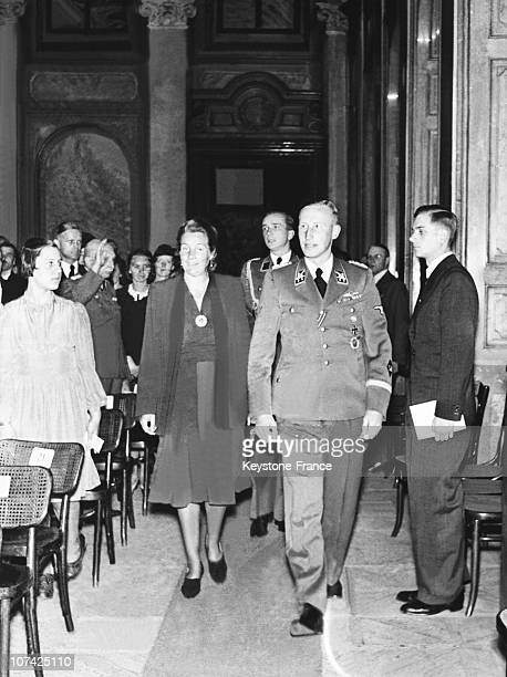Heydrich In The Wallenstein Palace For A Concert At Prague In Germany Czechoslovakia On May 26Th 1942