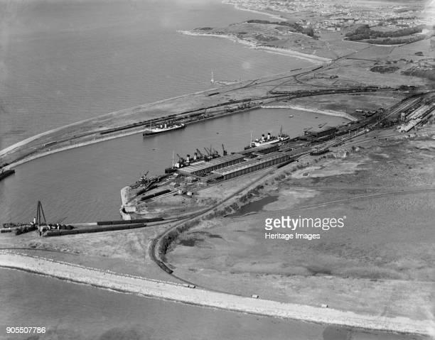 Heysham Harbour and Half Moon Bay Lancashire 1934 Artist Aerofilms