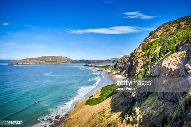 heyward point views, waitati, otago new zealand - dunedin new zealand stock pictures, royalty-free photos & images