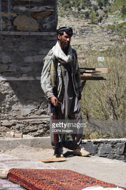 KUNAR AFGHANISTAN Hezbi Islami fighter with an RPG rocket launcher in the village of Laché district of Shigal province of Kunar Hezbi Islami is a...